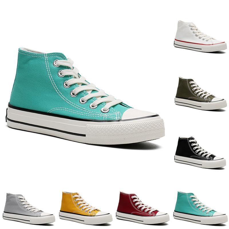 2021 Повседневная Обувь холст Мужчины Женщины Платформа Повседневные Тренеры Открытый Мужская Женская Мода Беги Спортивные кроссовки 36-44