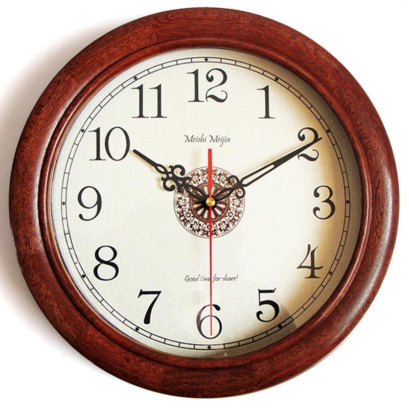 Duvar Saatleri Yaratıcı Nordic Saat Ahşap Basit Retro Dilsiz Oturma Odası Reloj De Pared Izle Ev Dekorasyon DD50WC