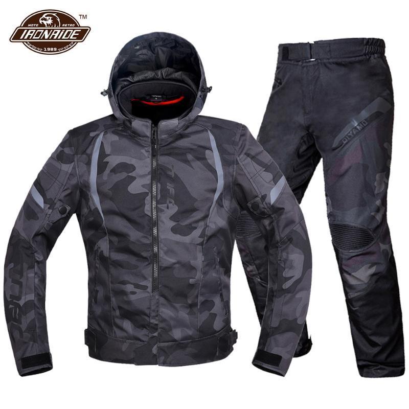 Erkekler Motosiklet Ceket Su Geçirmez Motocross Takım Elbise Rüzgar Geçirmez Moto Koruma Giyilebilir Kaqueta ile Çıkarılabilir Linner Giyim