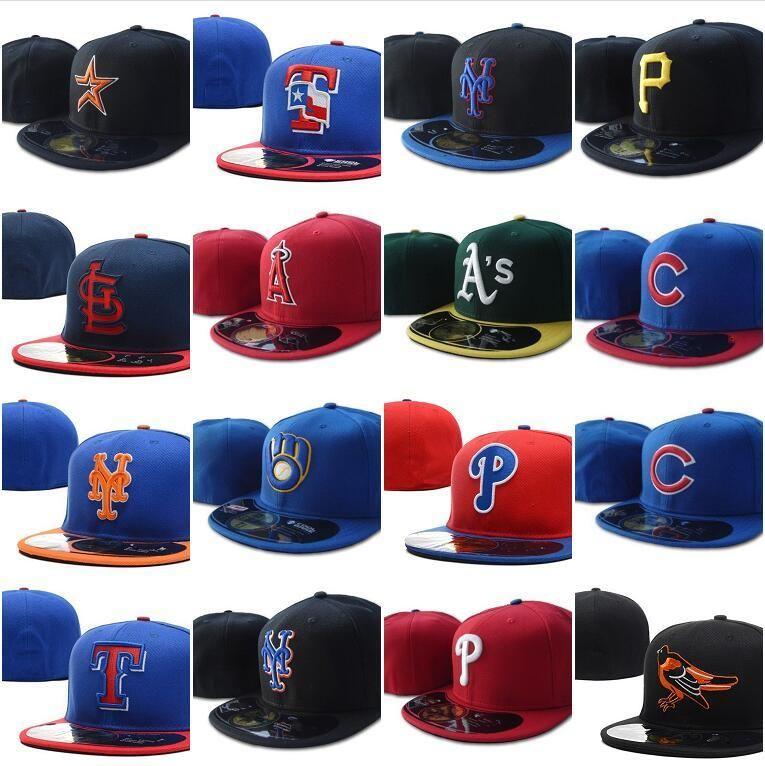 Wholesale хорошее качество Все команды Chicago бейсбол встроенные шляпы Giants SF Нью-Йорк мужские полные замкнутые плоские козыреки Rangers Cap Size Mix