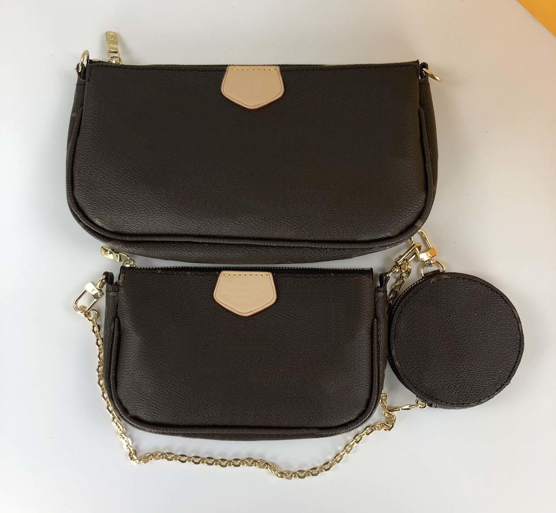 Diseñadores de Lujos Bolsas de mujer Lady Three Piece Satchel 4832 Monedero Messenger Small Postman Bag Subling Adecuado para la moda