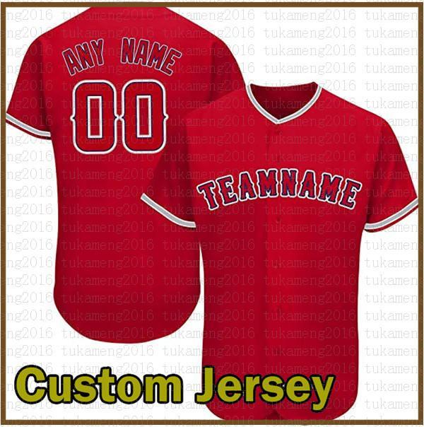 مخصص لوس أنجلوس الجدة زر أسفل البيسبول الفانيلة شخصية مراوح قميص للرجال تيماني اسم وعدد هدية مخيط أحمر متعدد الملونة