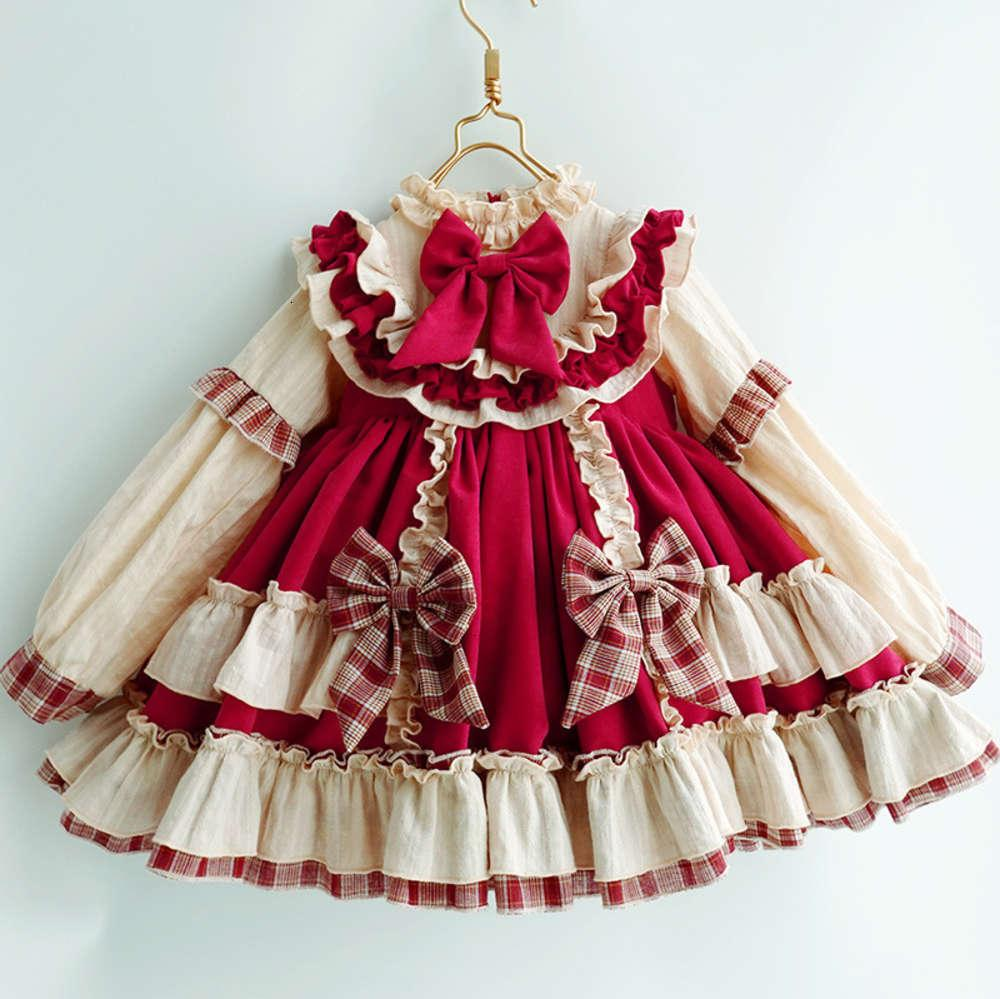 Платья для девочек Физическая стрельбаут осень Новый DRS и зима давно SVE Детская лолита юбка Гонг Тинфэн