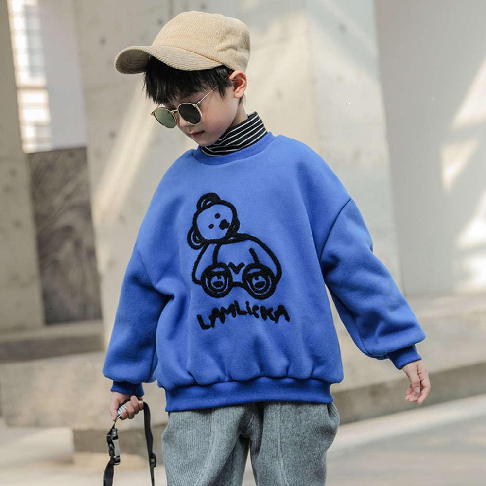 et chaleur d'automne Boys 'Boys' épaissie Collier High Collier High Collier Wear 2020 Nouvelle couche de fond d'hiver pour enfants