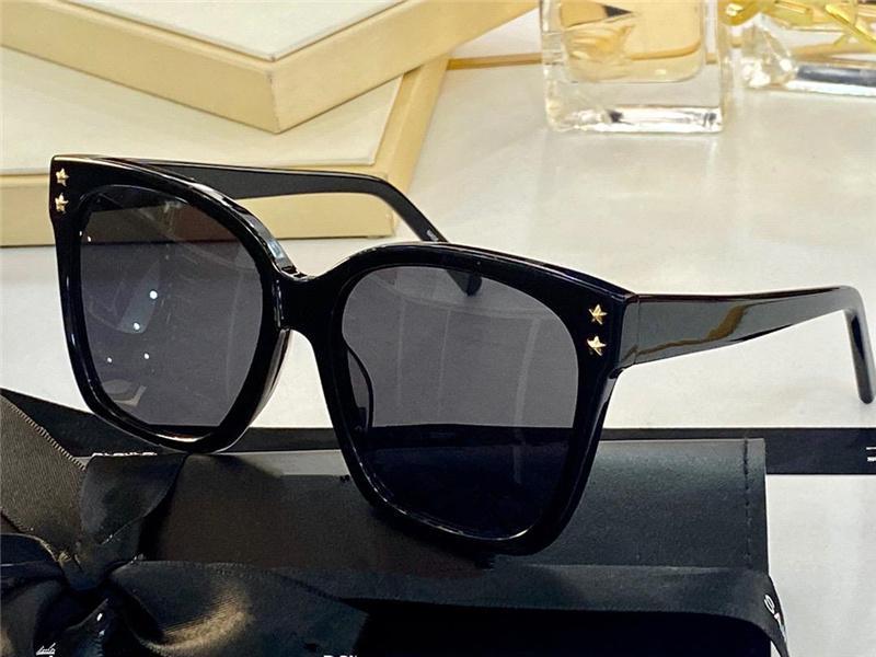 Óculos de sol para homens e mulheres verão gato olho anti-ultravioleta placa retro quadro completo moda óculos aleatório caixa 523