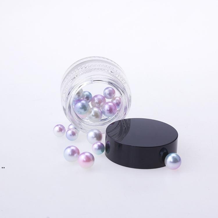 Cajas 5G / 5ML Cajas Redáticas Cosméticos Pot Jar Tarjetas de bálsamo de labios con tapa de tapa de tornillo blanco transparente negro y pequeña pequeña botella de 5 g DWD8405