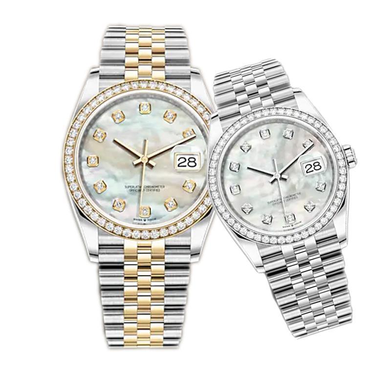 Caijiamin-U1 공장 망 자동 기계식 시계 다이아몬드 시계 36mm 스테인레스 스틸 손목 시계 슈퍼 빛나는 숙녀 여성 시계 몽트레 드럭