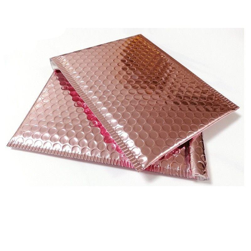 Rose Gold Bubble Envelop Metallic Rose Gold Foil Bubble Mailer for Gift Packaging, Wedding Favor Bag 1315 V2