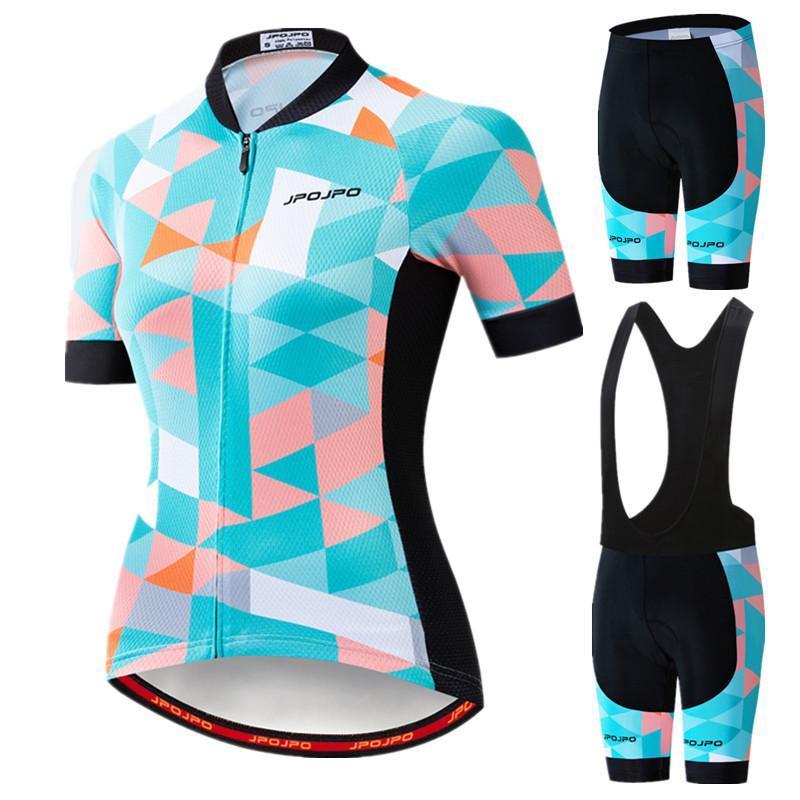 Гоночные наборы 2021 женская велосипедная рубашка команда униформа фитнес Джерси МТБ анти-уклон одежды велосипед носить с короткими рукавами