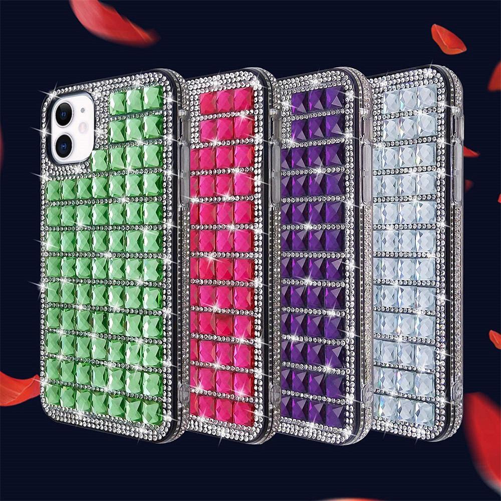Glitter Bling Elmas Telefon Kılıfı iphone 6 7 8 x XR 11 12 Pro Max Kristal Kapak Rhinestone Kılıfı