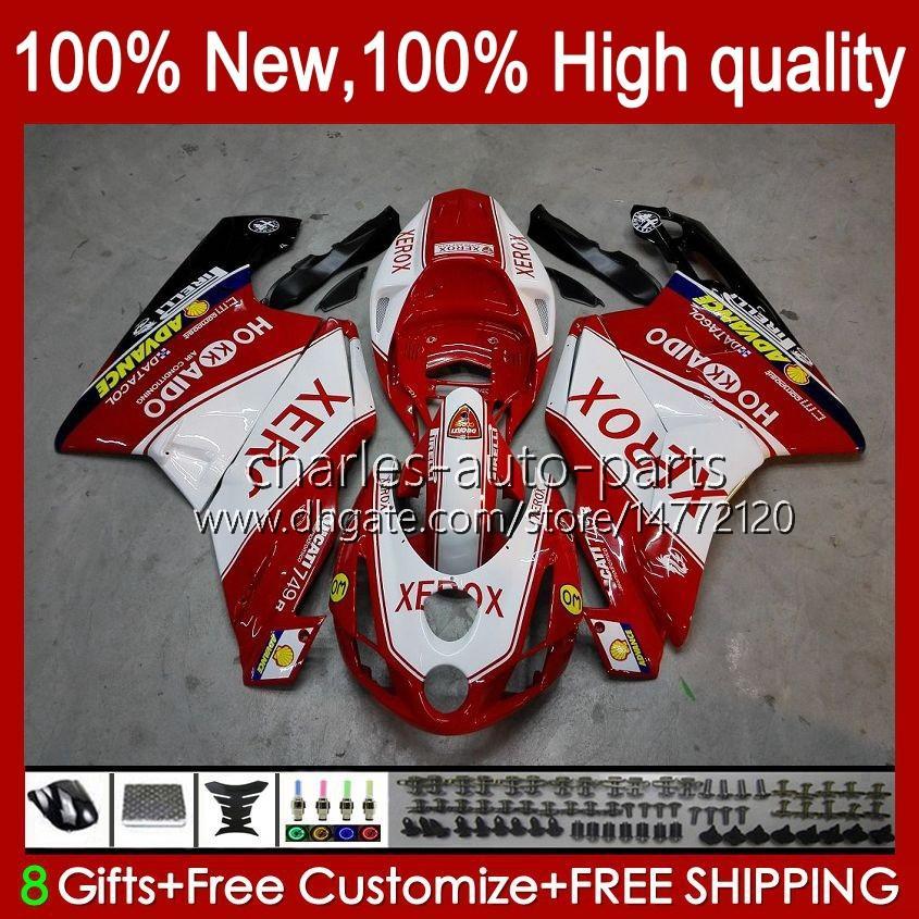 Motorrad-Bodys für Ducati 749-999 749s 999s 749 999 2003-2006 ABS-Bodywork 27No.7 749 999 S R 2003 2004 2005 2006 749R 999R 03 04 05 06 OEM-Verkleidung Kit Red Glossy BLK