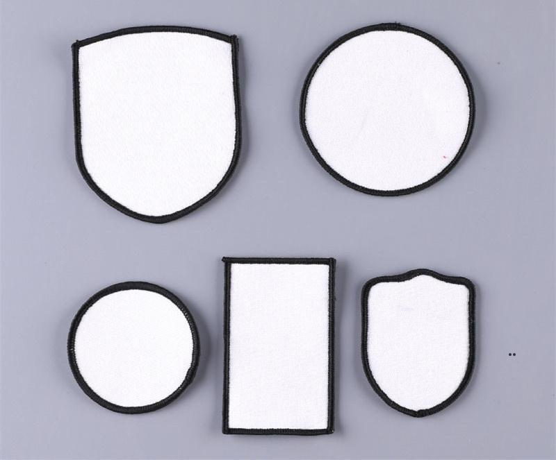 Ткань аксессуары Сублимационные шляпы патчи термические трансферные шляпы патч белый пустой ткань аксессуар квадратный круглый DIY подарок декор FWF8911