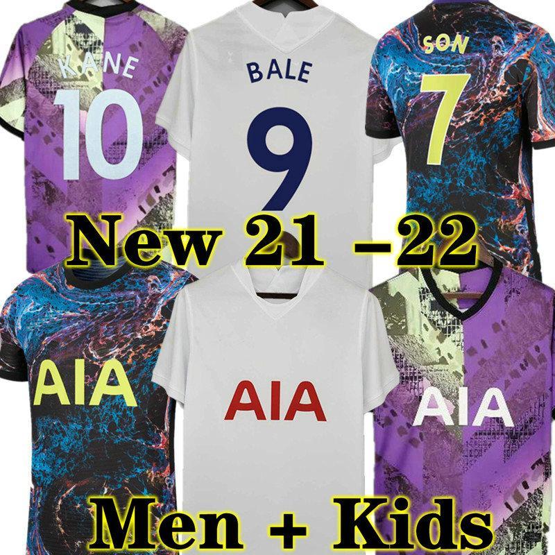 Højbjberg 21 22 Kane Son Bergwijn Ndombele Soccer Jerseys 2021 2022 توتنهام ديل لكرة القدم قميص لو سيلسو مورجان بيل لاميلا لوكاس 4th رجال + أطفال