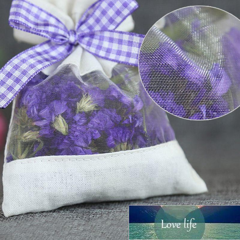 Semi di fiori secchi Erbe di spezie con nastro Home Fragranza Blè in tessuto di cotone vuoto Garza per stoccaggio