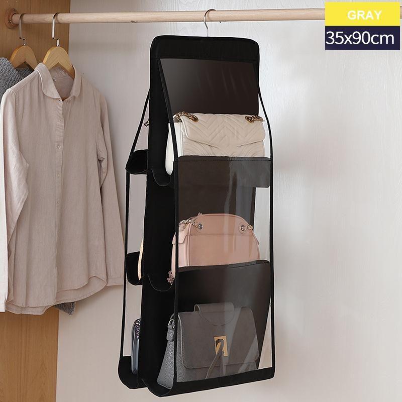 صناديق تخزين صناديق قابلة للطي حامل حقيبة يد شنقا 6 جيوب المنظم رف هوك شماعات أكتوبر 1998