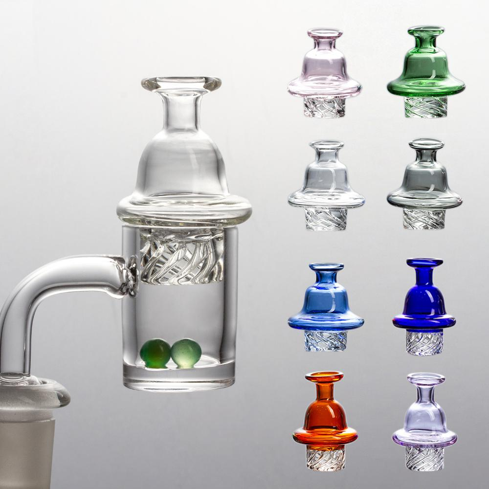 Smoking Accessories 25mm Quartz Banger Nail with Spinning Carb Cap and 2 random colored gemstone beads Male 14mm for Dab Rig Glass Bong