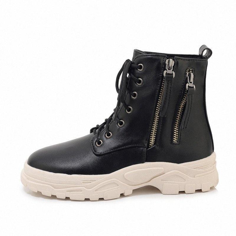 Bottes de neige 2019 femmes étanches en cuir chaussures pour bottes d'hiver pour femme Casual Platform Baskets Botas Mujer Female Boot Boot Boot Boot Chaussettes Boot Boot 38Ih #