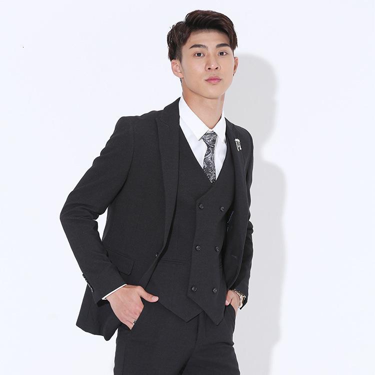 Abiti da uomo per il tempo libero Coreano 2021 Three Business Piege Men's Suit