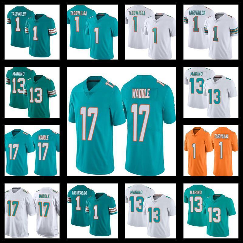 1 Tua Tagovailoa 17 Jaylen Waddle Futbol 13 Dan Marino Renk Rush Turuncu MiamiYunuslarJersey Erkek Kadın Gençlik Çocuklar