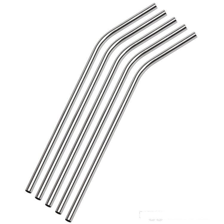 """DHL shipping 100pcs/lot Stainless Steel Straw Steel Drinking Straws 8.5"""" Reusable ECO Metal Drinking Straw Bar Drinks Party Stag"""