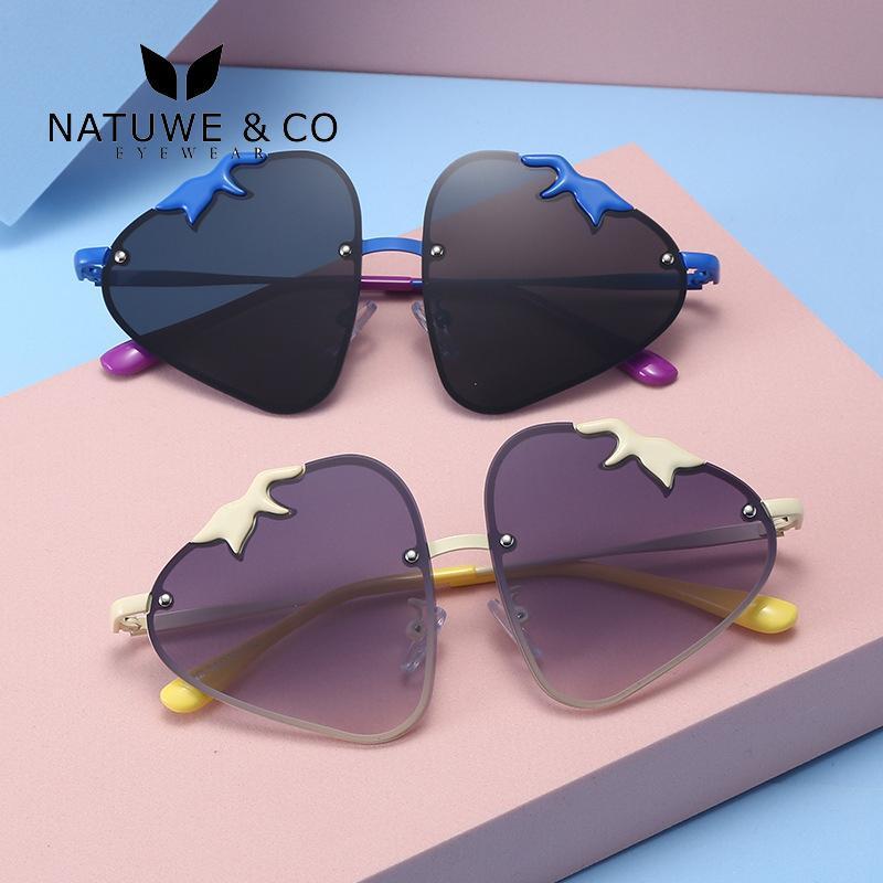 Kinder Sonnenbrillen Mädchen Polarisierte Masse Erdbeer-rote nette Sonnenbrille