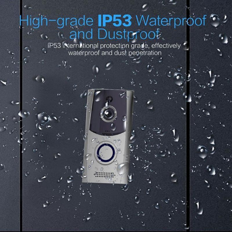 WiFi Wireless Video Camera Door Bell Phone Doorbell Intercom APP Motion Detection IR Night Vision Without Bat Phones