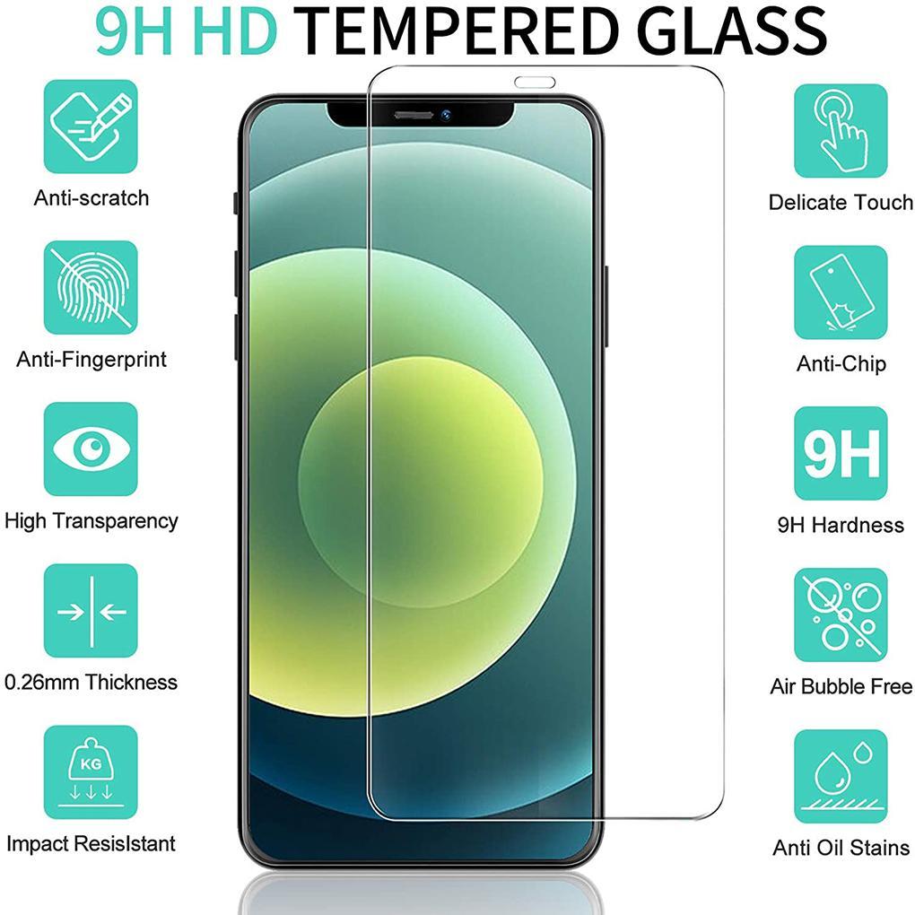 حامي الشاشة الزجاج المقسى لفون 12 11 برو X / XS ماكس XR 8 7 6S Plus بدون حزمة