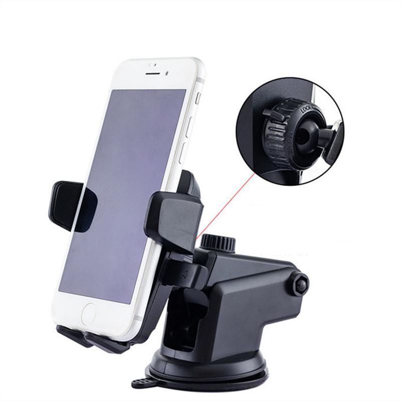 Universal 360 gradi Easy One Touch Car Mount per iPhone x 11 12 Max HandFree Smart Cell Phone Portacelluto Aspirazione Tazza di ventosa Supporti con pacchetto