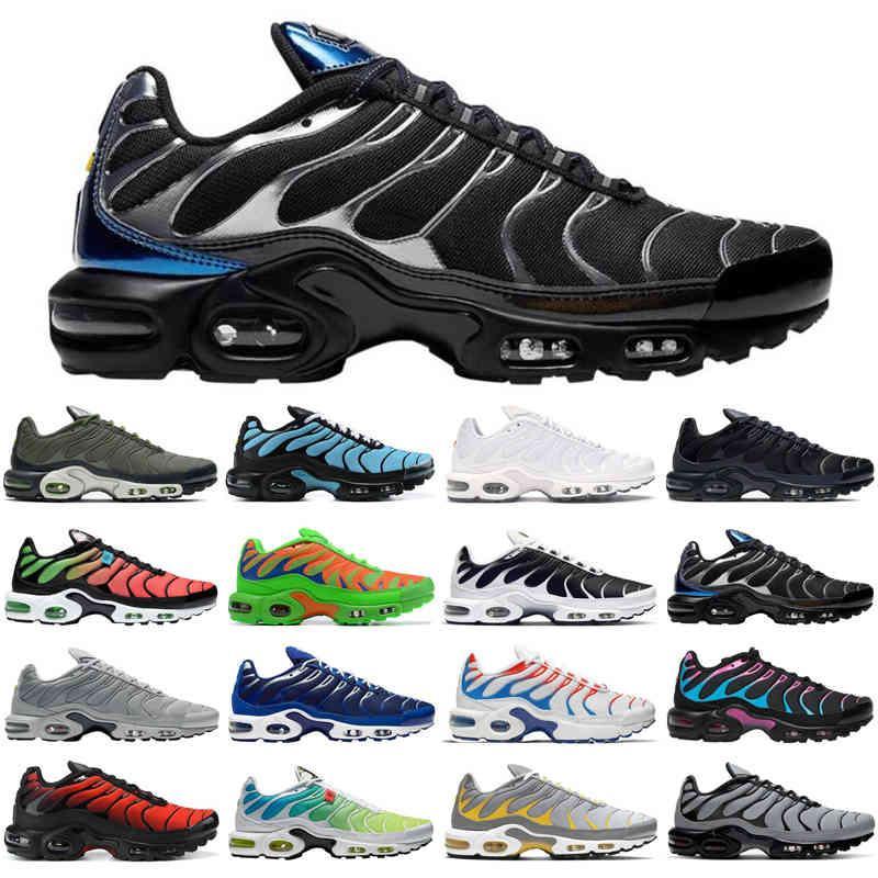 TOP TN Plus SE Hombres Zapatos Running Zapatos Triple Negro Blanco Cráter Psychic Blue Tiffany Media Green Mens Trainers Deportes Sneakers Tamaño 40-46