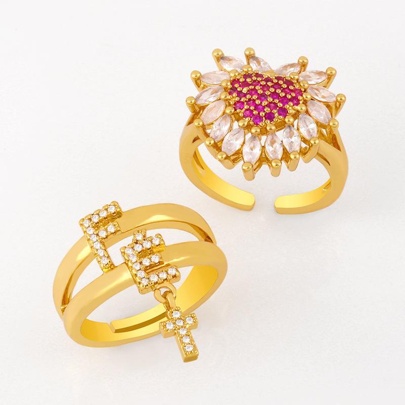 디자이너 패션 개성 다용도 여성 그물 레드 마이크로 다이아몬드 지르콘 사랑 반지 Rij56