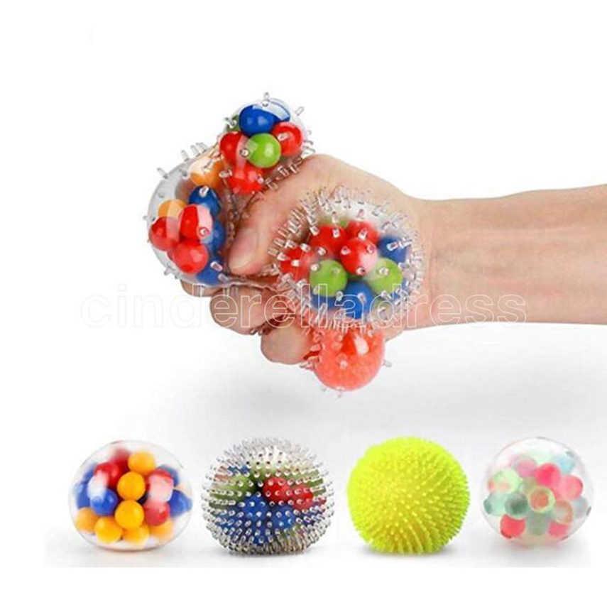 포도 공에 새로운 멋진 구슬 TPR 짜내 릴리프 공 압력 구호 다채로운 장난감 파티 호의