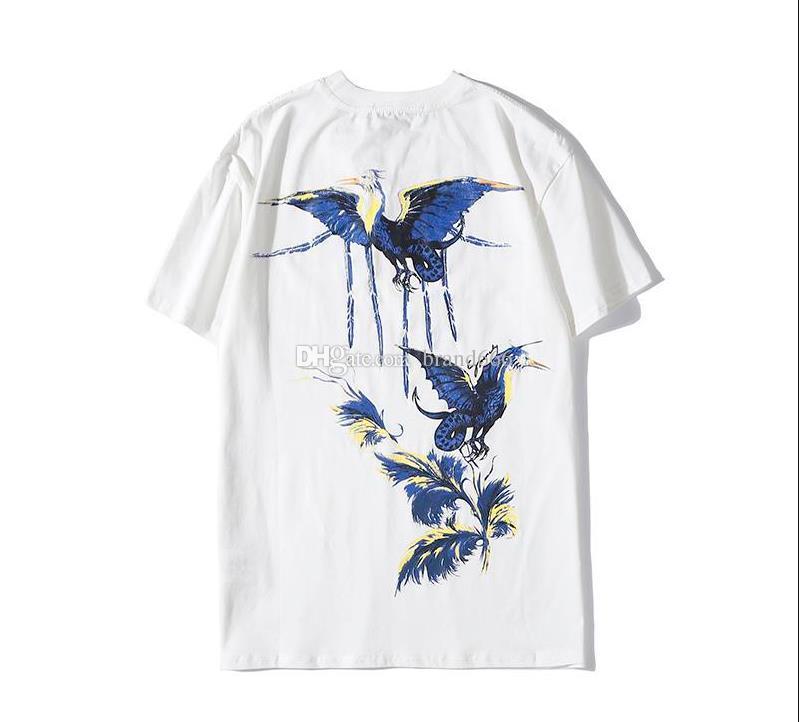 2021 여름 패션 조류 디자이너 티셔츠 남성 여성 힙합 클래식 반팔 고품질 코튼 티셔츠 캐주얼 티셔츠