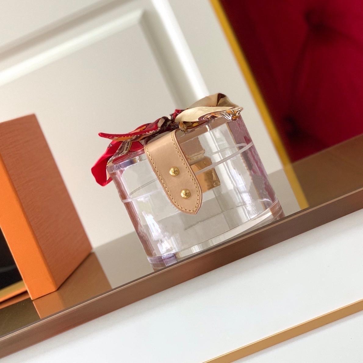 Sacos Cosméticos Scott Caixa Luxurys Designers Glamours para manter a maquiagem de jóias transparente plexiglass reluzente metal decorativo caixas de molho