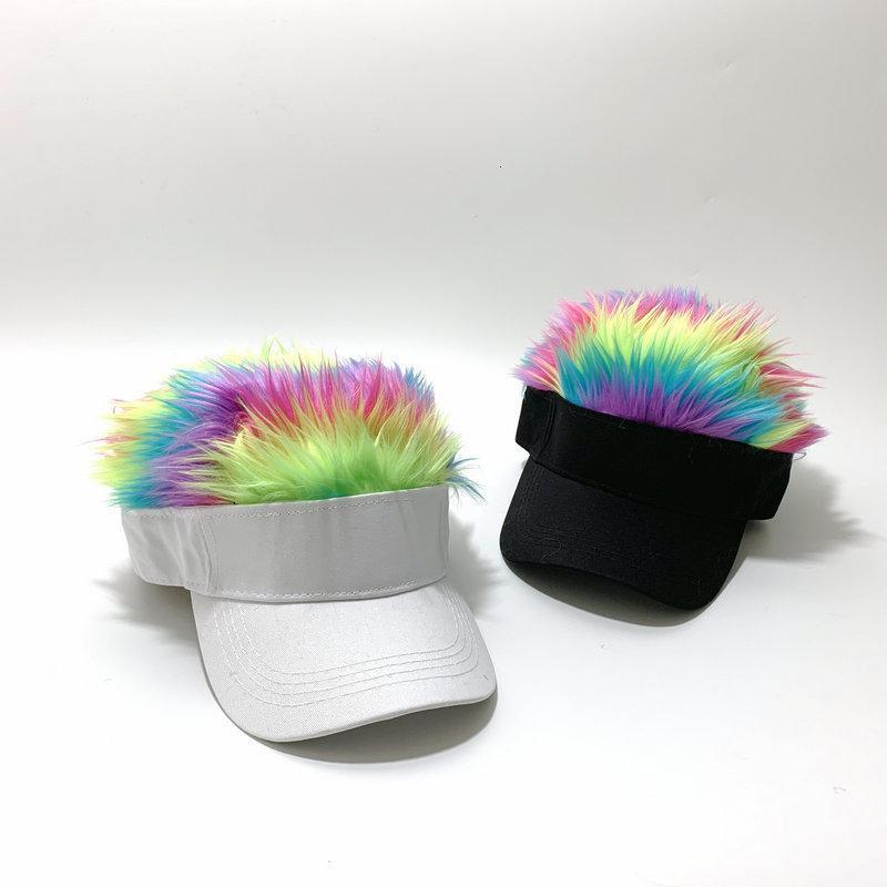Sombrero de béisbol de peluca creativa hombres Hip Hop Sunshade Divertido pato de la lengua sol