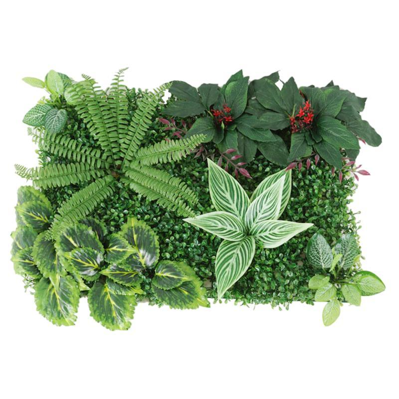 Duschvorhänge Künstliche Hecke Indoor Outdoor-Pflanzen Blume Turfen Rasen-Topiary Greenery Wandkunst-Panels für Hochzeitsgarten