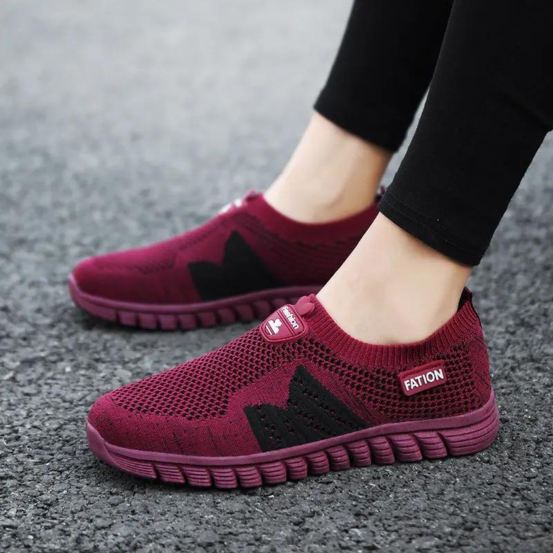 2021 Designer Running Shoes For Women Black Red Purple Burgundy Fashion Womens Trainers Sports Sneakers size 35-41 15