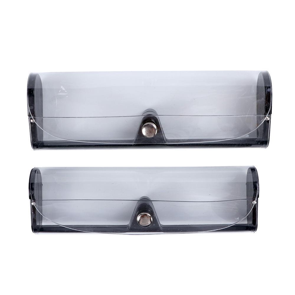 Caja colorida de gafas de gafas de PVC Caja de lectura transparente Gafas de lentes de plástico para la lente myopic