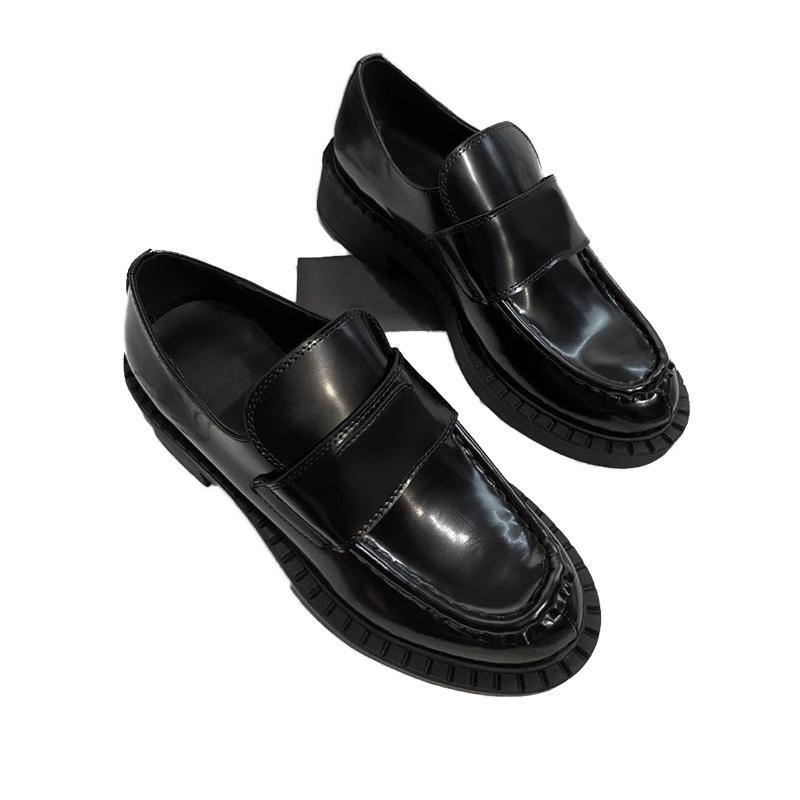 Frauen Kleid Hochzeit Party Schuh Hohe Qualität Leder Chaussures Plattform Sandale Mode Business formale Loafer Social Chunky Schuhe