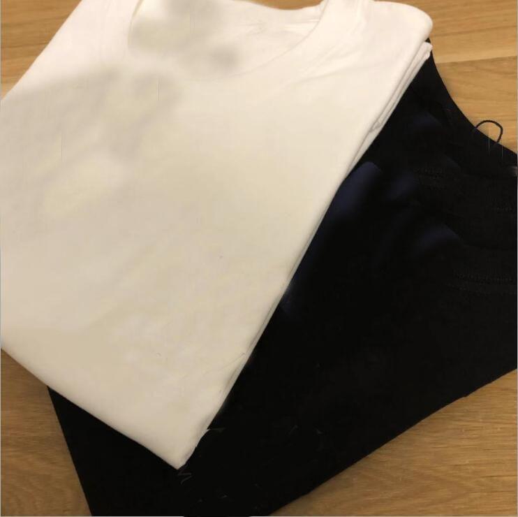 Talla grande XS-5XL 2022 100% algodón para hombre t shirts Pareja de los amantes de los hombres On Cuello de manga corta fresca Mujeres Hombre Moda Camiseta camisetas Tops Tops Tshirts