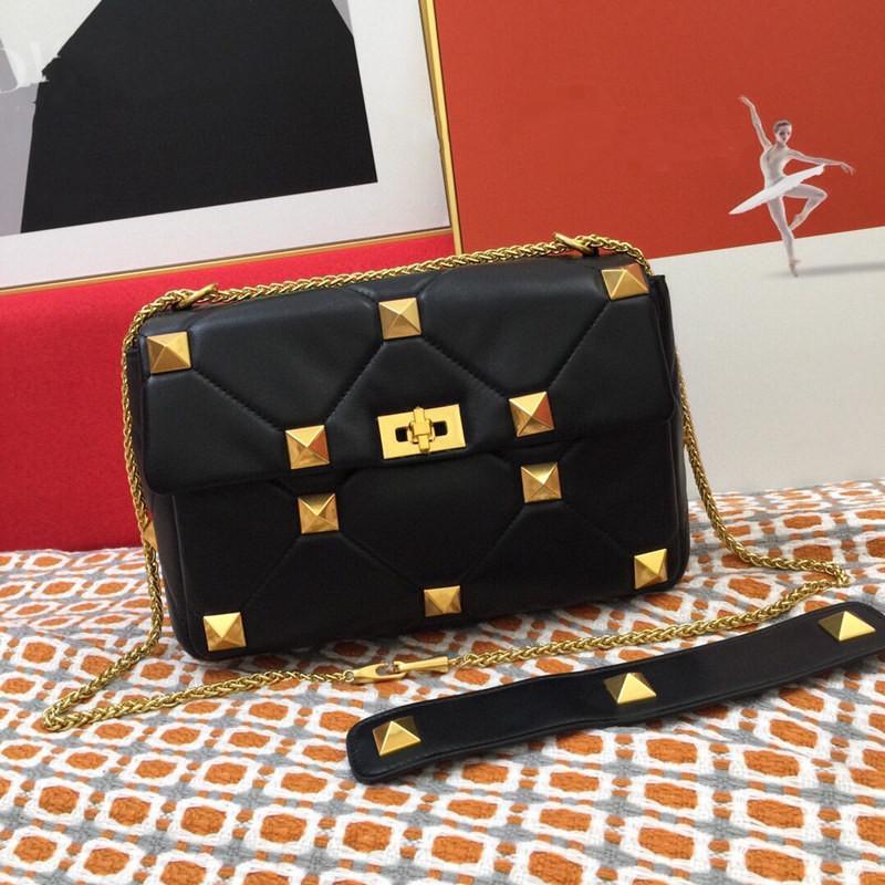أزياء فاخر مصممين حقائب الكتف حقائب النساء crossbody حقيقي حزمة الصدر سيدة حمل حقائب محفظة جلد الغنم سلسلة مسمار حقيبة