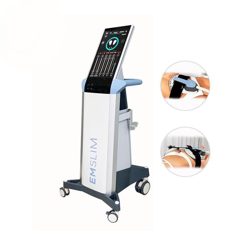 2021 Nouvelle machine EMSLIM EMS HI-EMT Sculpt EMS Stimulation électromagnétique Stimulation de muscle électromagnétique Forme de la combustion de la graisse Hiembert Equipement de beauté (Logo QEM)