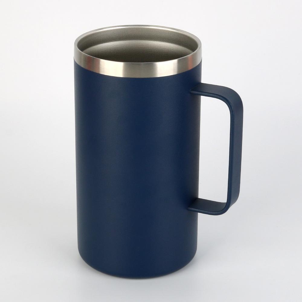 Tasse isolée à tumle de voyage en acier inoxydable avec couvercle à poignée double paroi sous vide isolant tasse Officehot boissons froides maritimes kkb7488