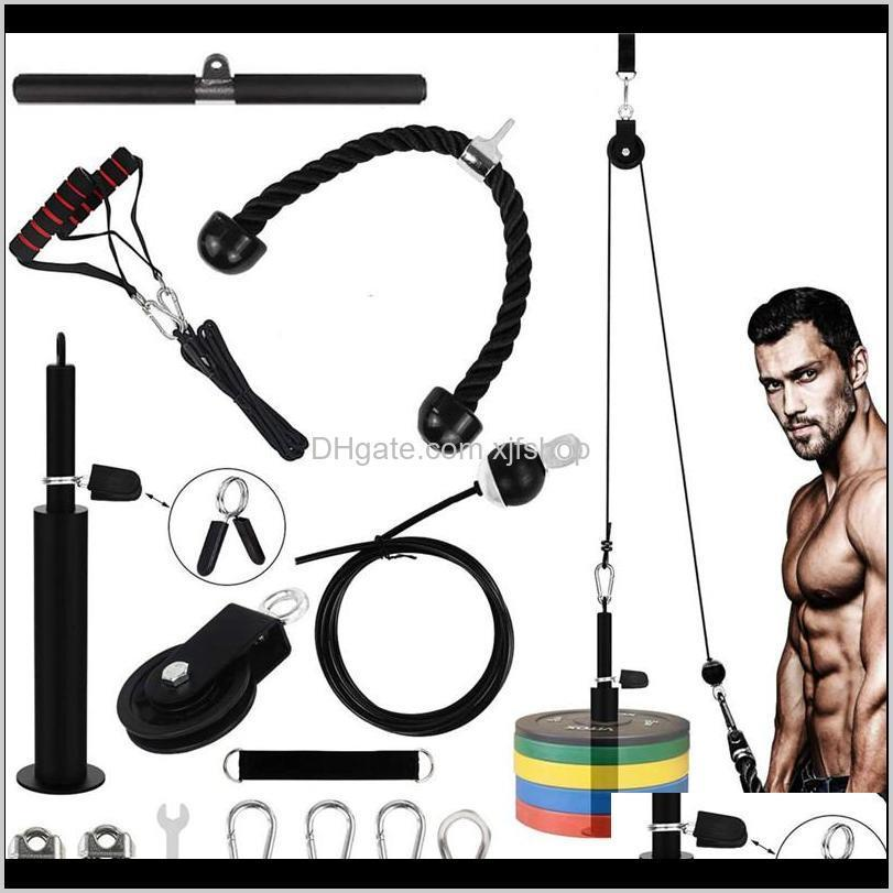 Accessories Equipments Supplies Sports Outdoors Drop Delivery 2021 12 Set Home Workout Gym Equipment Fitness Lift Pulley System Kit With Load
