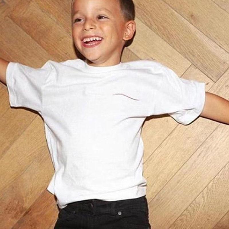 Niños T Shirts Carta de verano Tops impresos Tees Chicos Chicas Tshirts Bebé Ropa clásica Chidlren Unisex Multicolor 5Color Cómodo Casual deportivo Adolescente