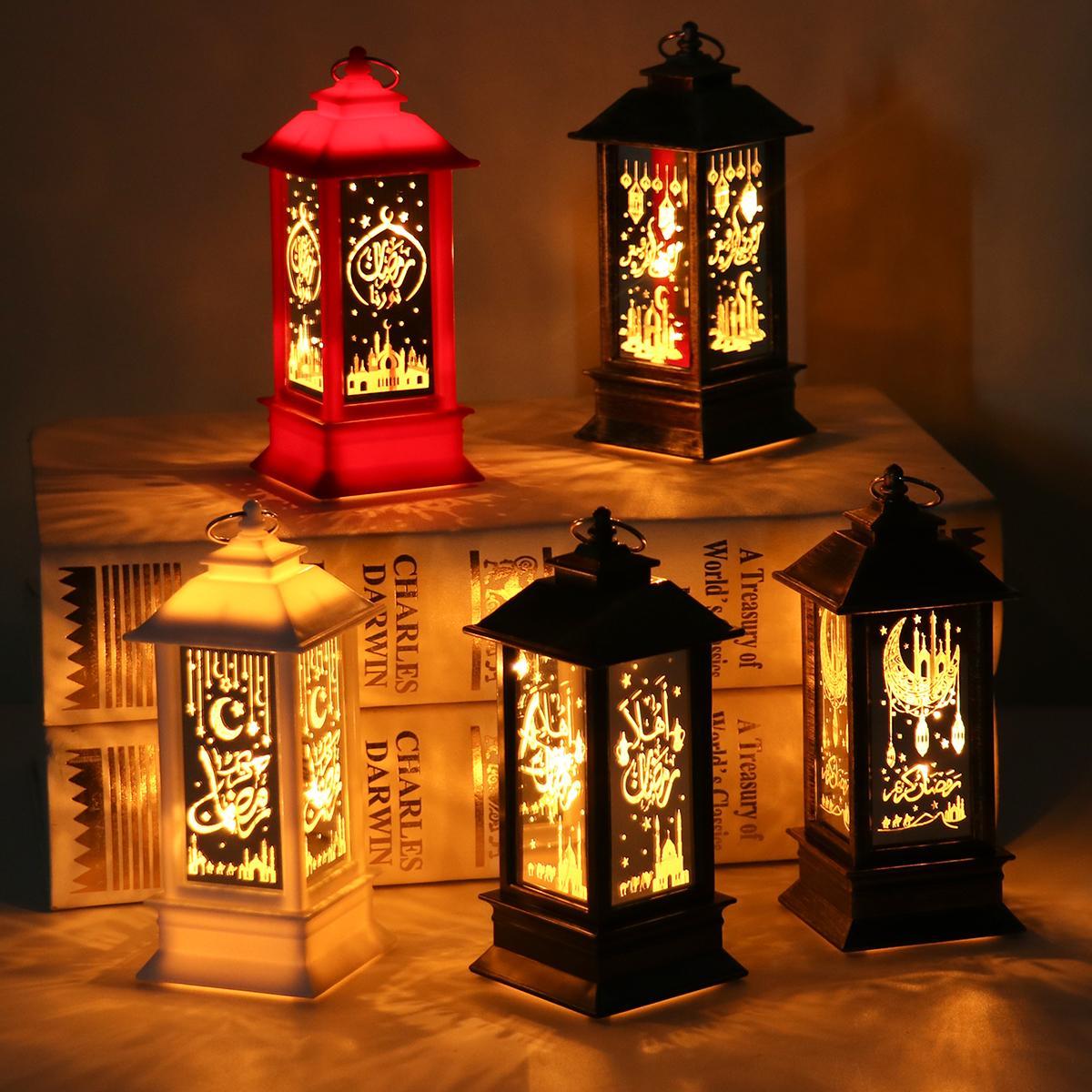 LED Ramadan Lantern Wind Lights Decor For Home Eid Mubarak Islamic Muslim Party Decor EID Al Adha Kareem Gifts