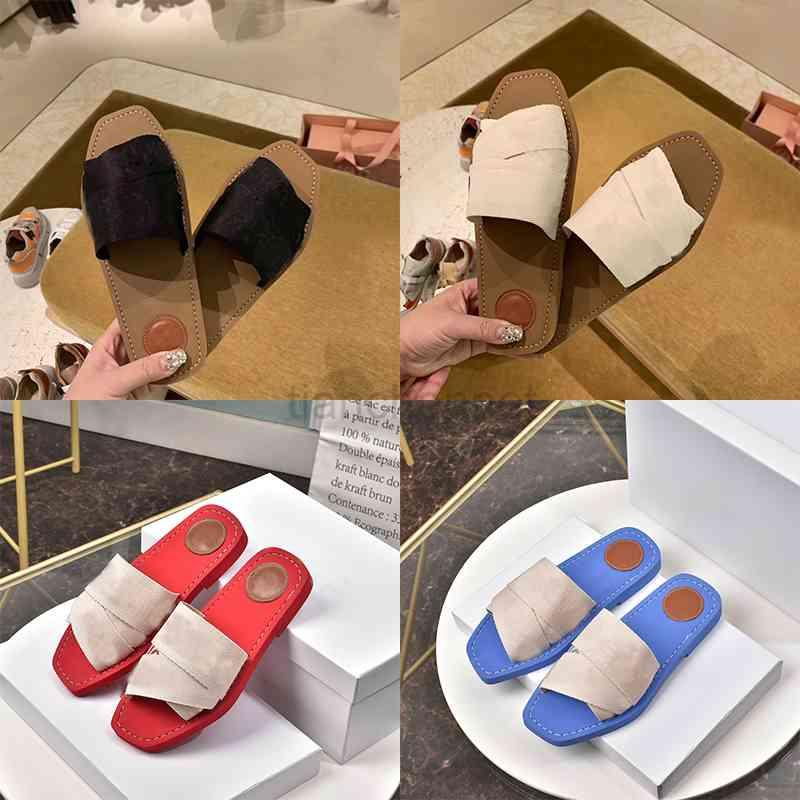 Fahsion Classics Frauen Hausschuhe Damen Flip Flops Müßiggänger Womeny Mules Slides Schuhe Outdoor Ledersohle Slide Sandale