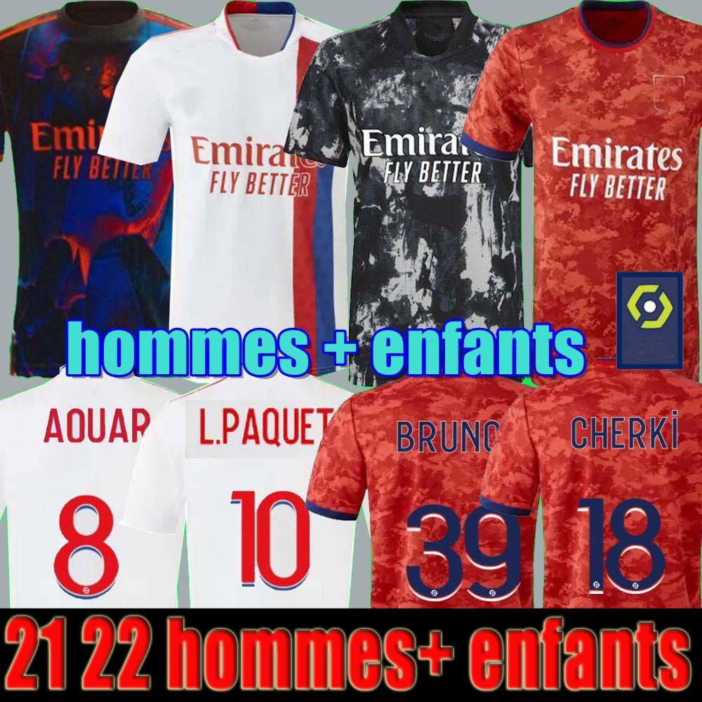 21 22 Maillot Lyon 4th 2021 2022 Olympique Lyonnais Soccer Jersey Ol Digital Cuarto Fútbol Camisas Traore l Paquete Le Sommer Men Kits Kits Equipment Bruno G Tops