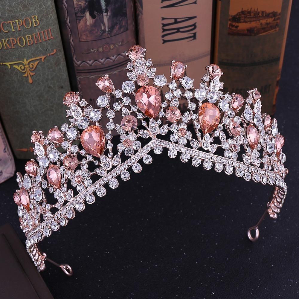 New Korean rhinestone wedding tiara popular hot bride tiara wedding accessories bridal hair accessories