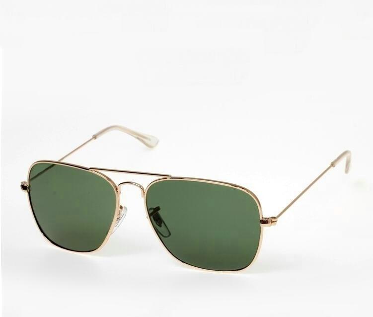 Sonnenbrille 2021 Männer Caravan Marke Legierung Flyer Goldrahmen G15 Gläser Mode Original Frauen