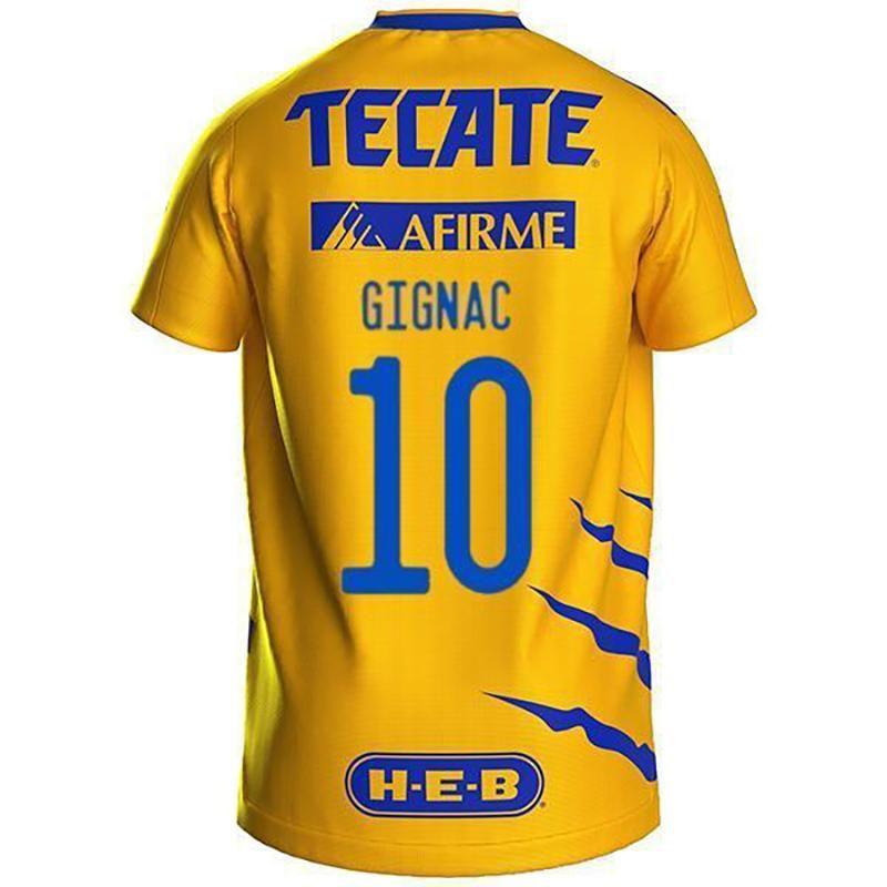 Dostosowane 2021 Tigres 10 Gigna 7 gwiazdek 9 Vargas Thai Quality Soccer Jersey Noszenie piłki nożnej Dropshipping Akceptowane sklep internetowy Lokalne nosić mężczyzn